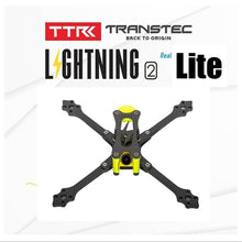 Load image into Gallery viewer, TRANSTEC Lightning 2 True X Lite H Brid 215mm FPV Racing drone Frame 5mm Arm 7075 Carbon Fiber Frame Kit
