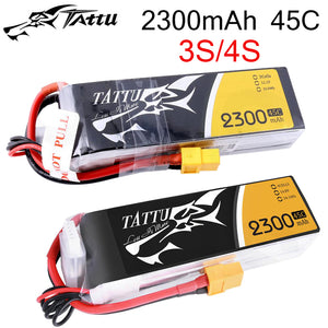 Tattu Lipo Battery 2300mAh Lipo 3S 4S11.1V 14.8V 45C XT60 Plug FPV Drone Power for FPV Frame RC Helicopter Plane Car Accessories