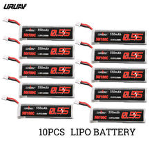 Load image into Gallery viewer, 5Pcs/10Pcs URUAV 3.8V 550mAh 50/100C 1S HV 4.35V PH2.0 Lipo Battery For Emax Tinyhawk Kingkong/LDARC TINY RC Drone Spare Part