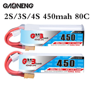 Gaoneng GNB 2S 3S 11.1V 4S 14.8V 450MAH 80C Lipo Battery XT30 Plug for RC CineBee Cine Whoop BetaFPV Quadcopter Toothpick Drone
