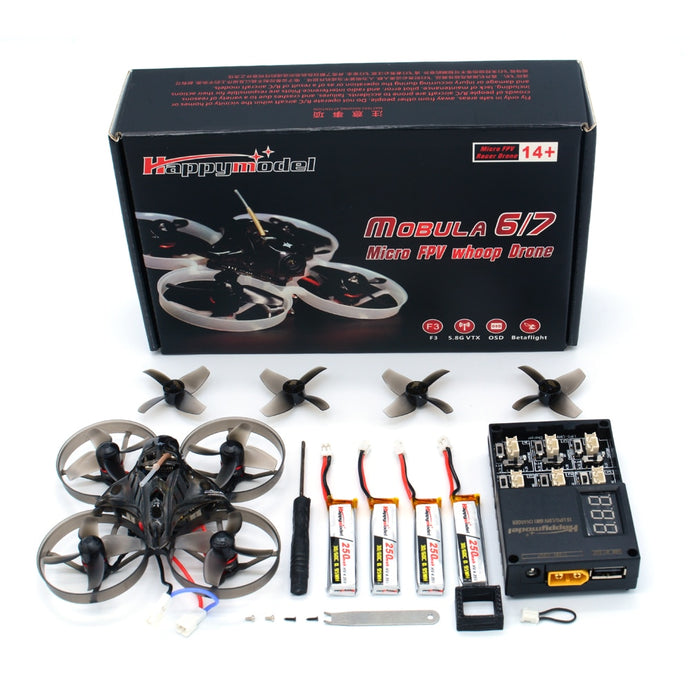Happymodel Mobula7 V2 75mm Crazybee F4 Pro OSD 2S 0802 Brushless Tiny Whoop Indoor Outdoor FPV Racing Drone Ductwhoop Cinewhoop