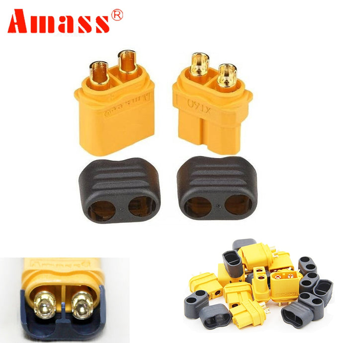 50 pair Amass XT60+ Plug Connector With Sheath Housing Male & Female For RC Lipo Battery FPV Quadcopter