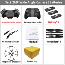 Load image into Gallery viewer, VISUO XS809S Foldable Selfie Drone with Wide Angle 2MP HD Camera WiFi FPV XS809HW Upgraded RC Quadcopter Helicopter Mini Dron