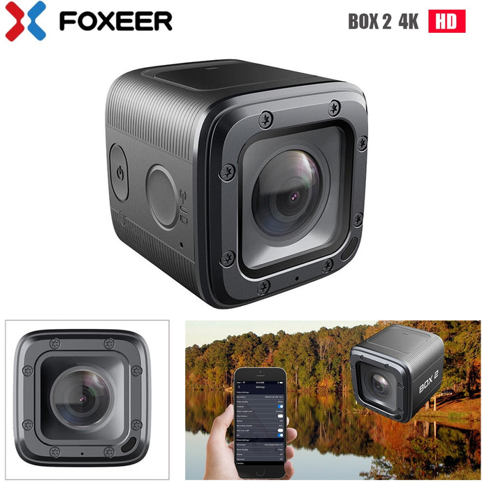Foxeer BOX 2 4K HD Action FPV Camera SuperVison HD 155 Degree ND Filter APP Micro HDMI Fast Charge Type-c(Must U3 Card)