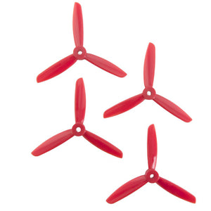 DAL 4x4.5 - 3 Blade Propellers -  (Set of 4 - Red)