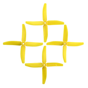 DAL 5x4 Propellers - 4 Blade (2 Pack - Yellow)