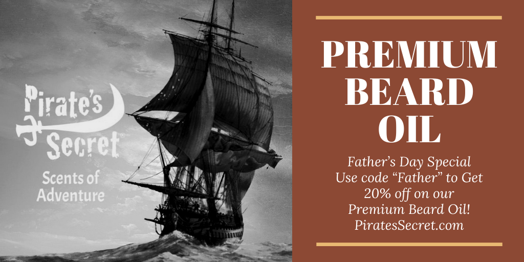 Pirate's Secret Premium Beard Oil Ship Fathers day sale 20% off