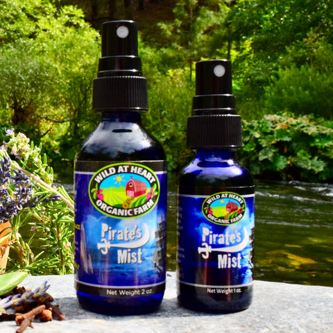2 oz and 1 oz bottles of Pirate's Mist