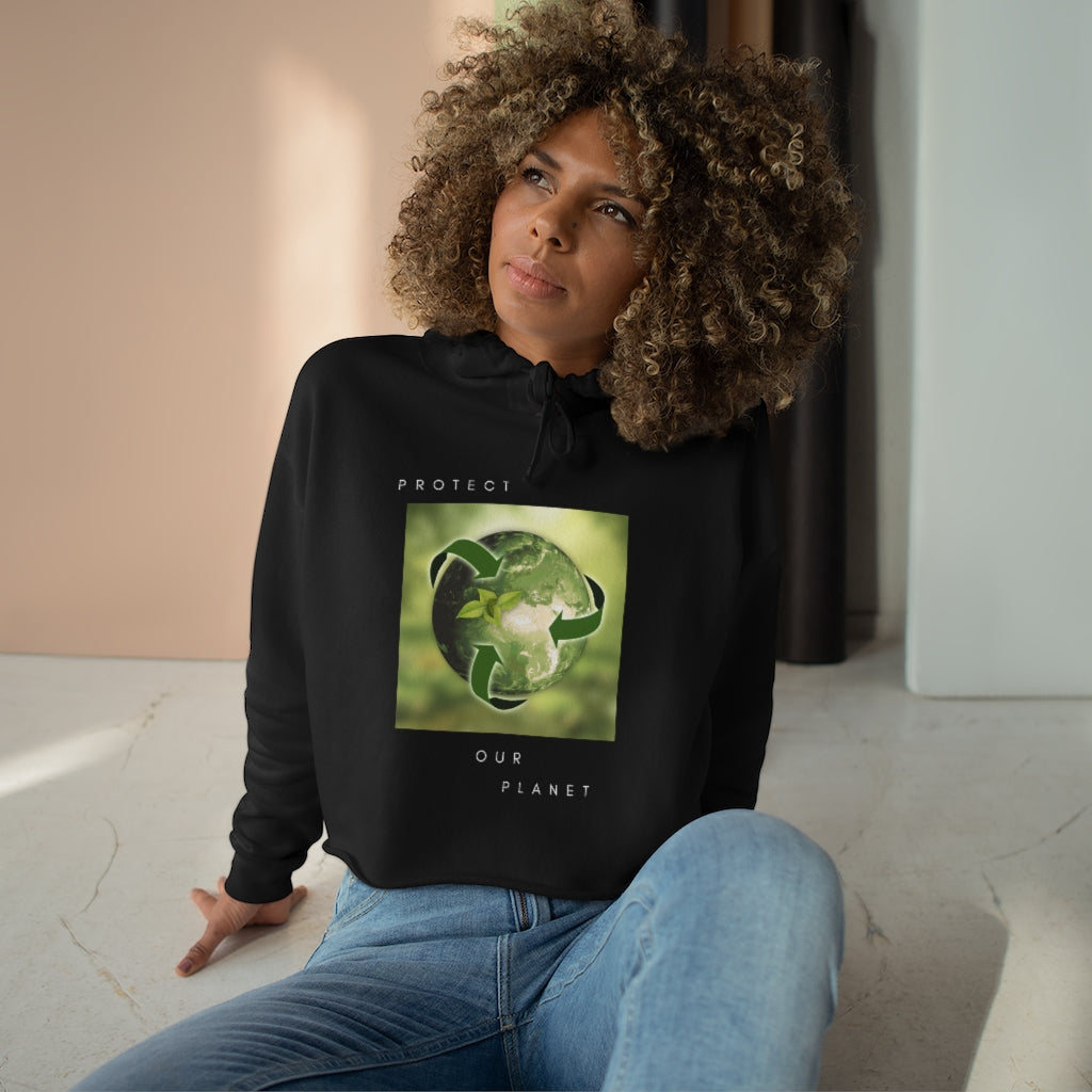 Protect our Planet II Crop Hoodie
