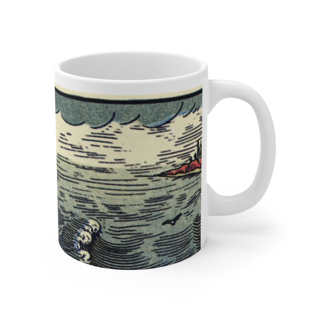 A Pirate's Life For Me! Ship on the Sea Coffee Mug