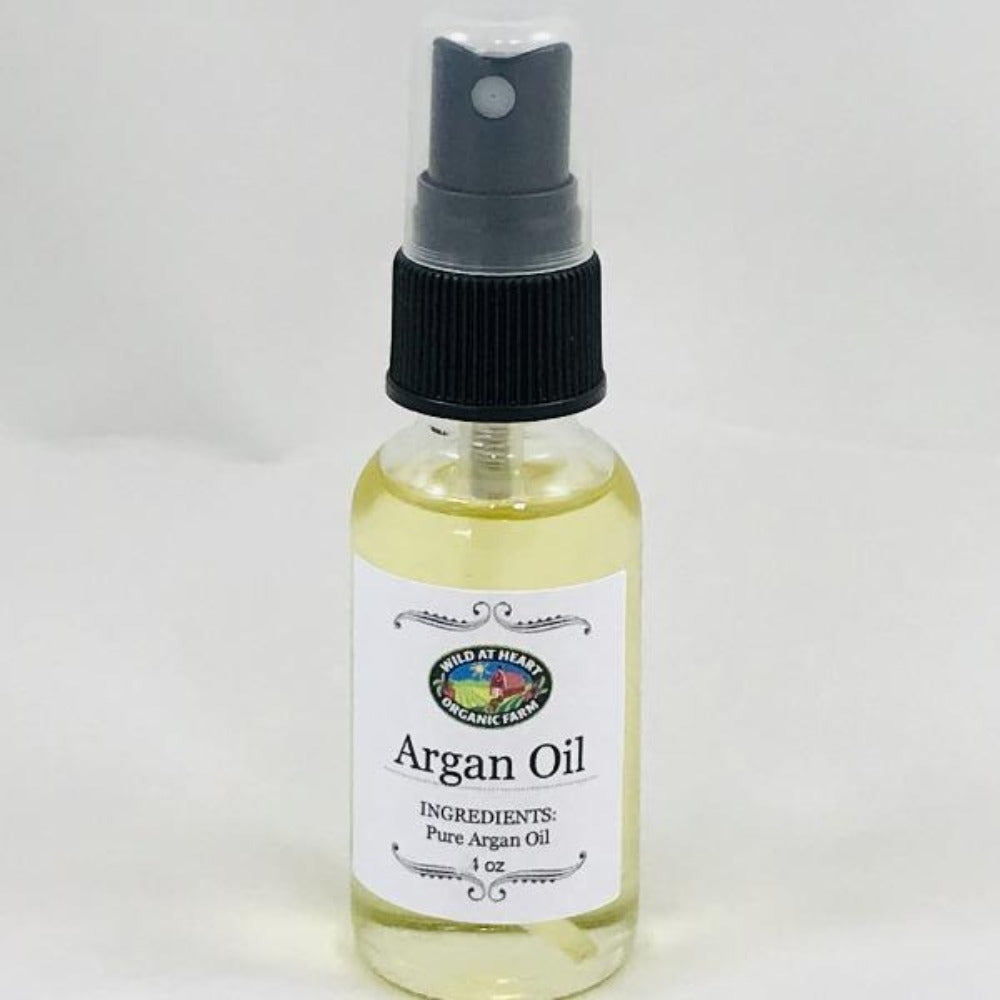 1 oz bottle Argan Oil Wild at Heart Organic Farm