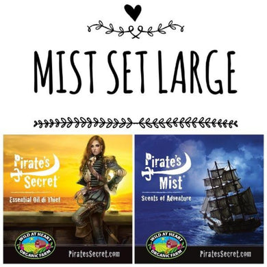 Pirate's Secret Mist set Large Ship & lady pirate