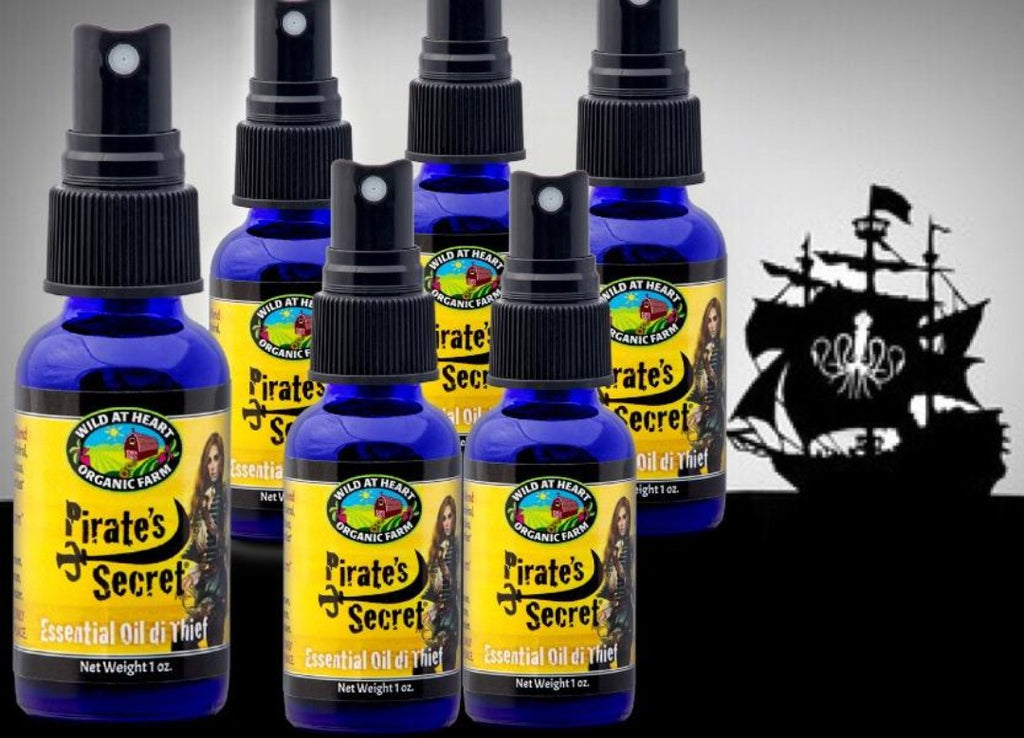 6 bottles of Pirate's Secret with ship