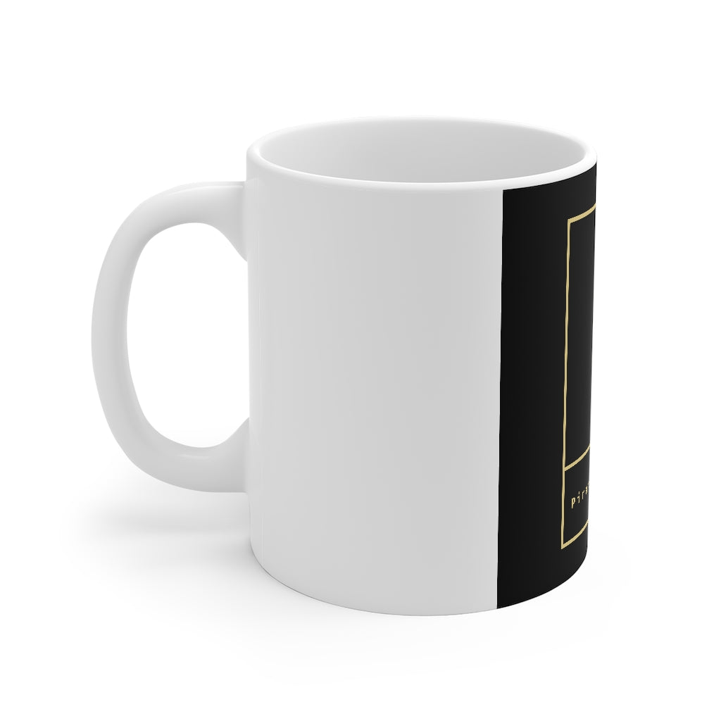 Pirate's Secret® Mug 11oz Black on White
