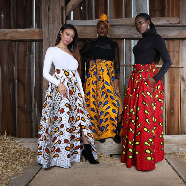 HOW TO ROCK AFRICAN PRINT MAXI SKIRTS ALL YEAR ROUND