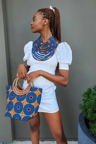 african bag and african necklace