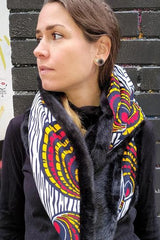 african print neck warmer and african print scarf