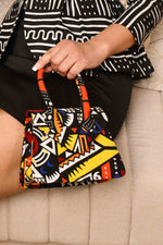 Multicolor mini bag. Mini bag for women. yellow mini bag. Africa handbag. African handbag for women