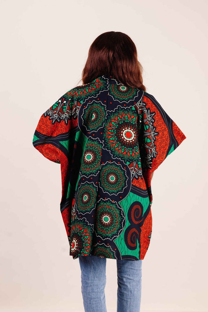 CALIX African Print Embroidered shirt - KEJEO