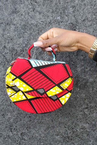 ANSSA-RONDE African Print Mini bag