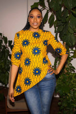 yellow tops for women. Summer top. Yellow outfit. African attire. Yellow African top.