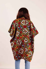 Kimono jacket. cover up piece. Women's jacket. African clothing for women.