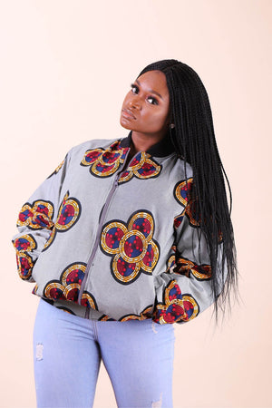african bomber jacket. african jacket