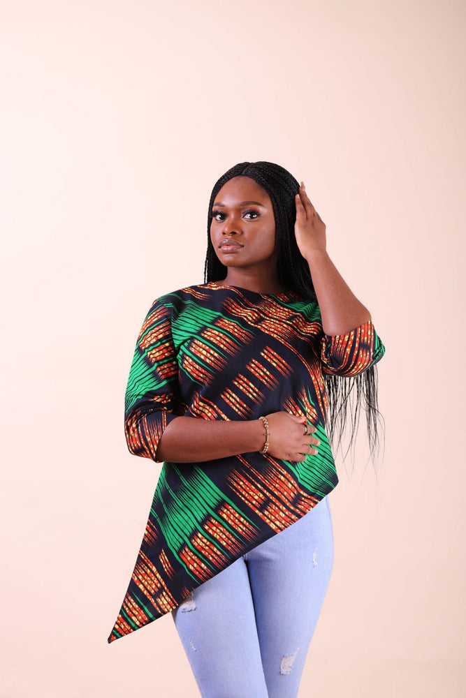 Load image into Gallery viewer, DAOUDA AFRICAN PRINT WOMEN'S TOP