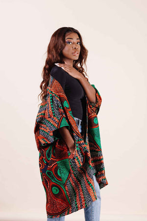 African kimono. Kimono style jacket. African top for women- Kejeo Designs