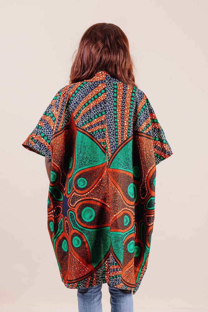 African print clothing. Long Jacket for women. Floral jackets. Summer clothing for women. Summer tops for women.
