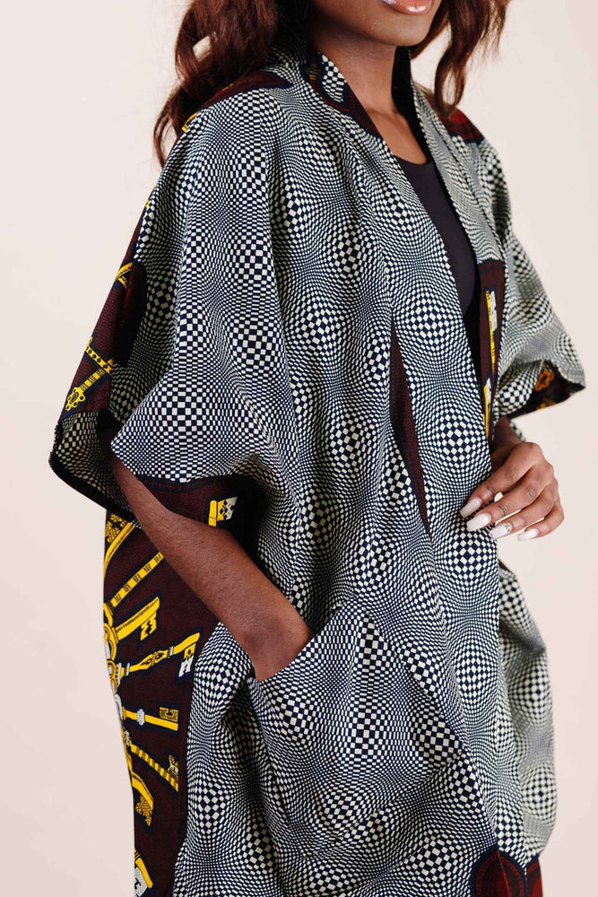 Kimono with pockets. African clothing