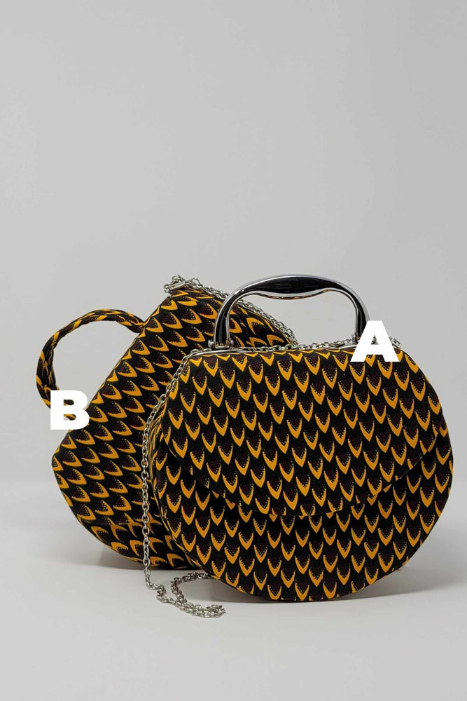 round bag. mini bags. African mini bags. Women's purses.