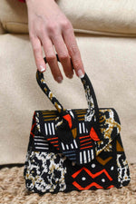 african bag. african handbag. black mini bag. african minibags