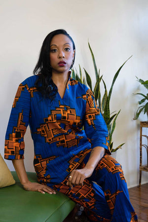 african print tops. Long sleeve african top