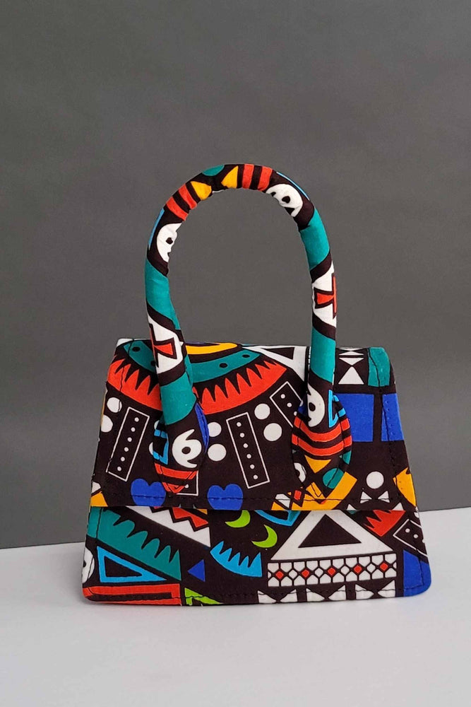 Green and blue African bags. African mini bags.