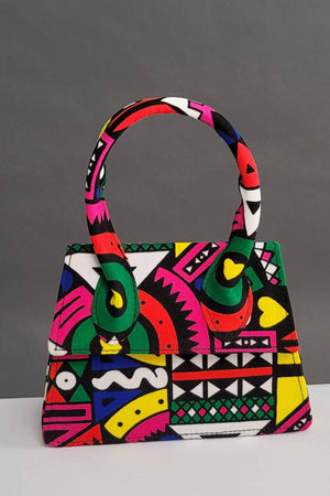 Load image into Gallery viewer, African bags. Pink mini bags. Floral bags.