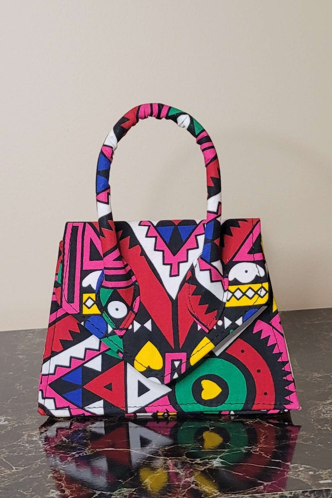 pink fashion bag. african bag. ankara bag