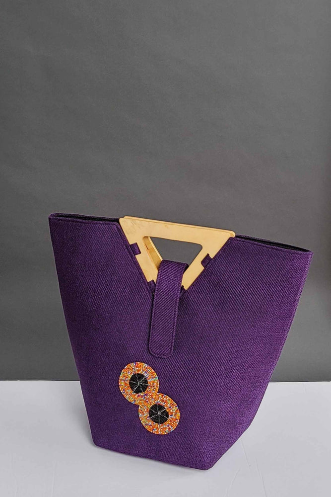 Load image into Gallery viewer, purple bags. African bags. Purple african bags.