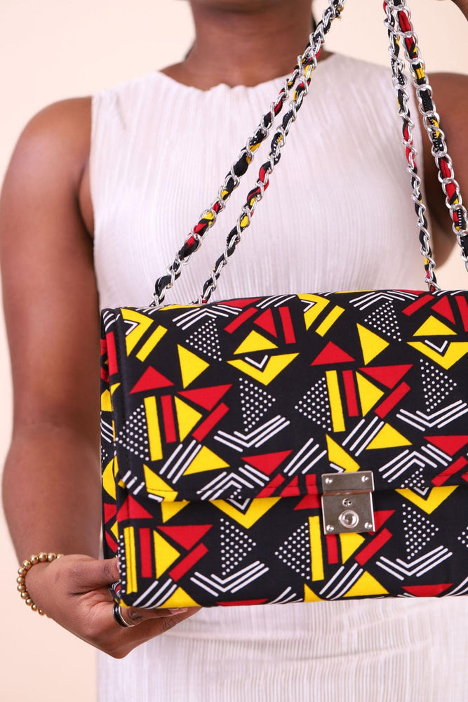 Load image into Gallery viewer, satchel bag. Shoulder bag. African bag. printed bags.