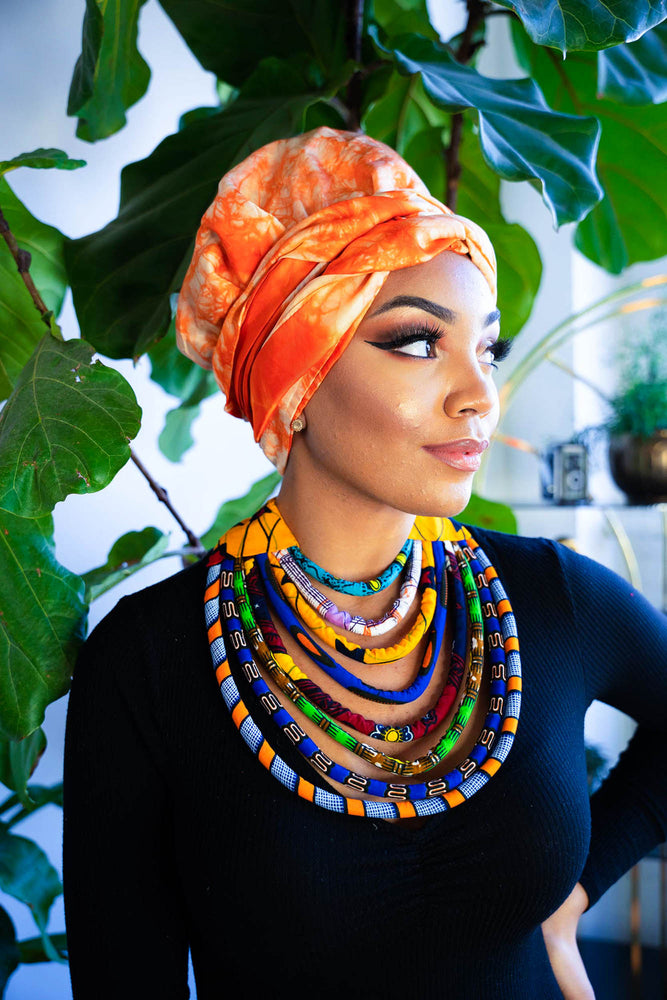 african queen. African necklace. African headwrap