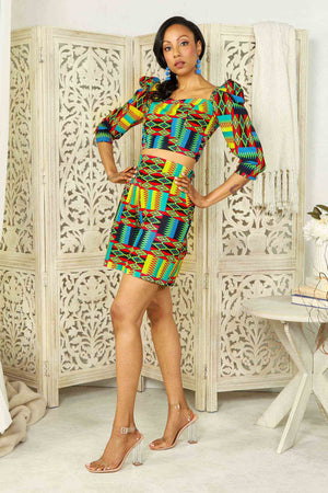 ANDRI African Print High-Waisted Short