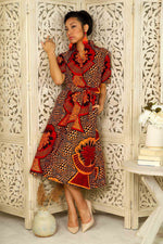 LENIA African Print Shirt Dress