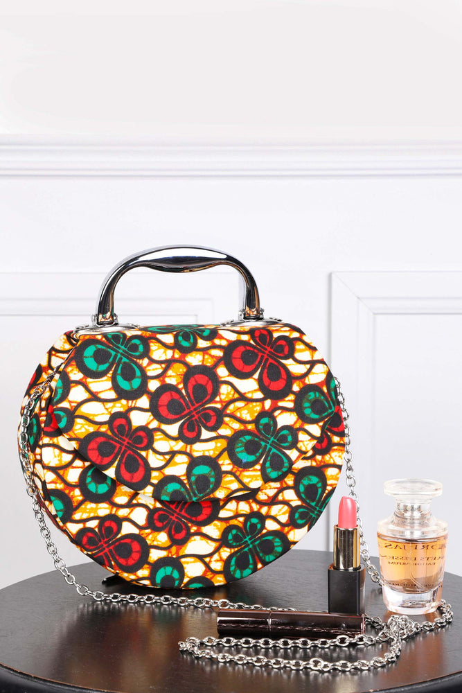 african print handbags with chain for women