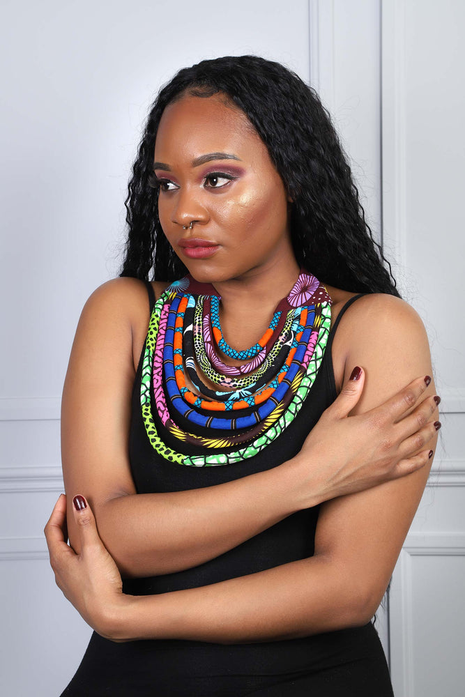 african inspired necklace. african necklace for women