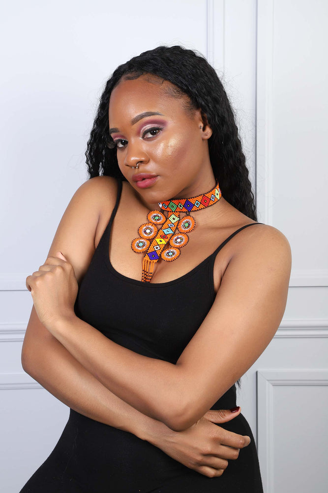 AYINA African Beads Necklace