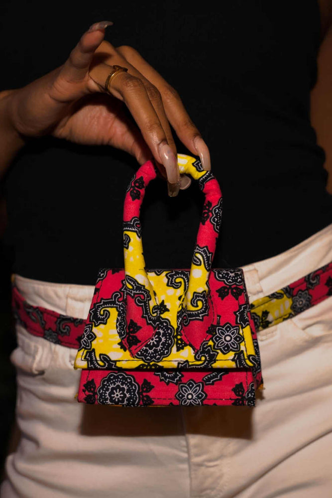 Load image into Gallery viewer, REANA African Print Micro Bag (belt Bag)