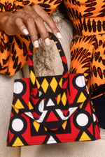 African handbag. Africa handbag. Red mini bag. Red bag. Ankara red bag