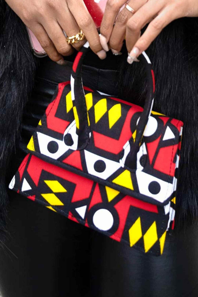 red mini bag. African handbag. african mini bag. africa mini bag. african bags for women. women's handbag. Red bag for women