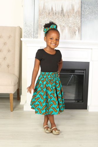 ABBY AFRICAN PRINT GIRLS' SKIRT - KEJEO DESIGNS