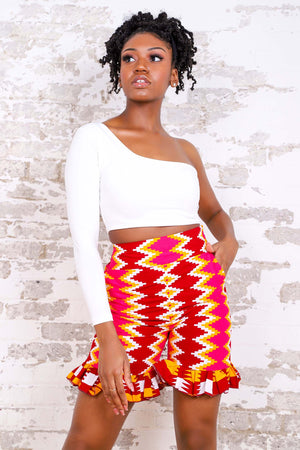 Load image into Gallery viewer, ADRIANE AFRICAN PRINT WOMEN'S SHORT - KEJEO DESIGNS